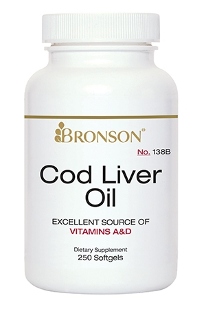 Cod Liver Oil 250 Softgels