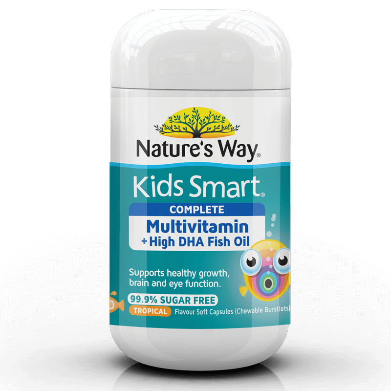 KIDS SMART BURSTLETS COMPLETE MULTIVITAMIN + High DHA FISH OIL