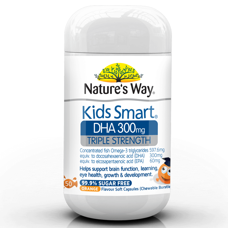 Nature's Way KIDS SMART DHA TRIPLE STRENGTH BURSTLETS 300MG – OMEGA 3 FOR KIDS