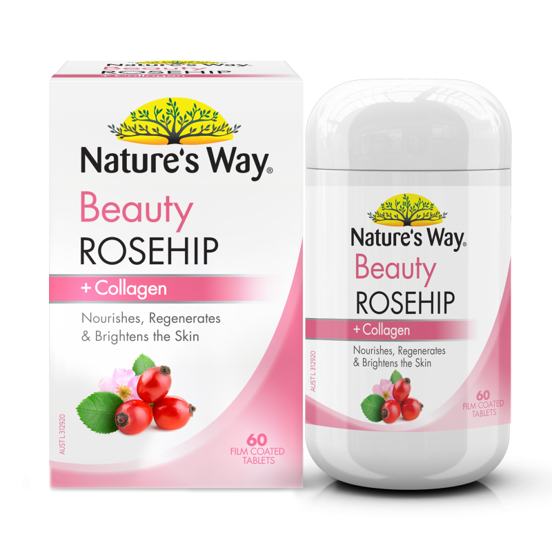 NATURE'S WAY BEAUTY ROSEHIP + COLLAGEN