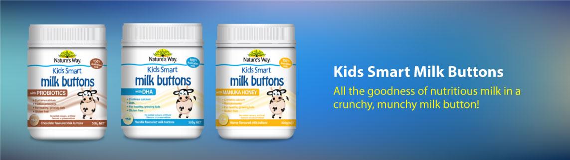 Kids Smart Milk Buttons Main Banner